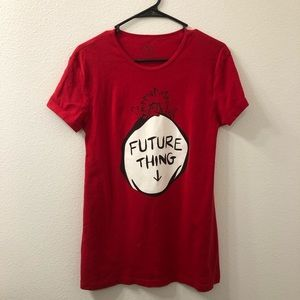 Universal studios dr Seuss Future thing shirt red